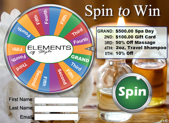 Hair Salon / Spa marketing with a Virtual Prize Wheel
